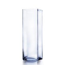 "5"" x 16"" Block Glass Vase - Case of 6 ($17.00/pc)"