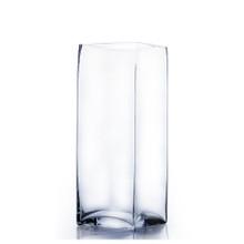 "6"" x 12"" Block Glass Vase - Case of 6 ($17.00/pc)"