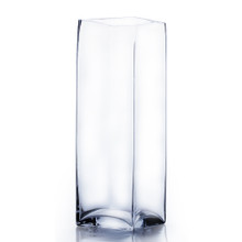 "6"" x 16"" Block Glass Vase - Case of 6 ($28.00/pc)"