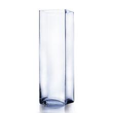 "6"" x 20"" Block Glass Vase - Case of 4 ($32.00/pc)"