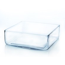"12"" x 12"" Block Pan Glass Vase - 4 Pieces"