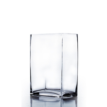 "6"" x 4"" x 12"" Block Rectangle Glass Vase - Case of 6 (12.00/pc)"
