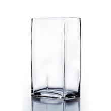 "6"" x 4"" x 16"" Block Rectangle Glass Vase - Case of 4 (16.00/pc)"