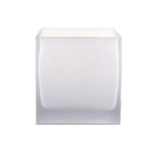 "4"" Frosted Cube Glass Vase - Case of 12 ($3.40/pc)"