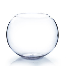 "10""x8"" Clear Bubble Bowl Vase - 4 Pieces"