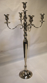 60 Inch Nickel Plated Candelabra