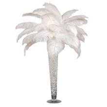 "Ostrich Feather Centerpiece with 28"" Trumpet Vase"