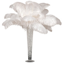 "DELUXE Ostrich Feather Plume Centerpiece with 28"" Trumpet Vase"