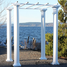 Roman Wedding Gazebo with Four 8 Foot Columns