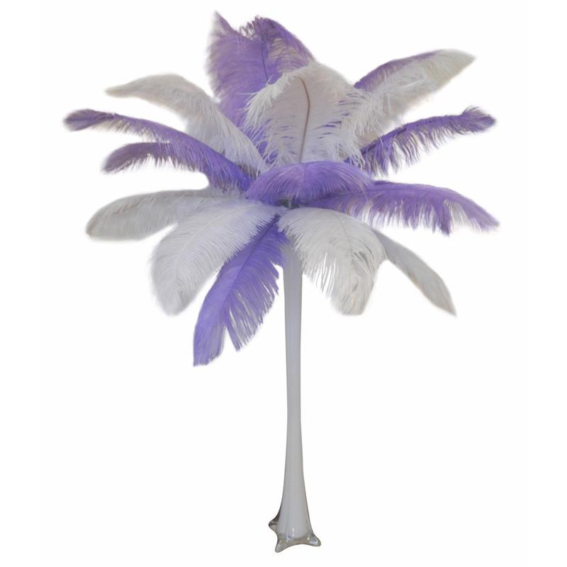 lavender ostrich feather centerpiece events wholesale