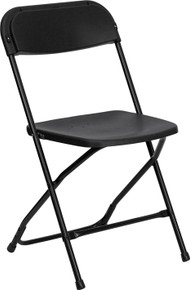Black Plastic Premium Folding Chair - 800 lb. Capacity