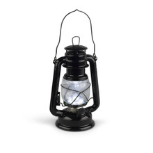 "Case of 8 Black Hurricane Lantern 9.5""H"