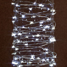 Case of 12 Cool White LED String Battery Operated 10'L