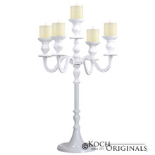 Royalty Tabletop Candelabra - 30'' - 5 light in White