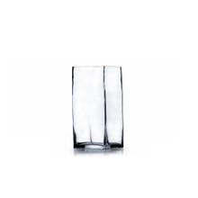 "4"" x 8"" Block Glass Vase - Case of 12"