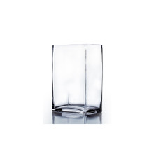 "3"" x 4"" Rectangle Block Vase, 7 inches high - Case of 12"