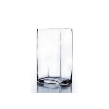 "3"" x 4"" Rectangle Block Vase, 9 inches high - Case of 12"
