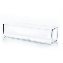 "16"" x 4"" Rectangle Block Vase, 4 inches high - Case of 6"