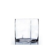 "6"" x 4"" Rectangle Block Vase, 6 inches high - Case of 12"