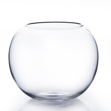 "10"" x 8"" Clear Bubble Bowl Vase - 4 Pieces"