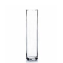 "4"" x 18"" Cylinder Glass Vase - 12 Pieces"