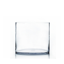 "10"" x 8"" Cylinder Glass Vase - 4 Pieces"