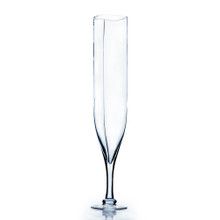 "24"" Champagne Vase, Rounded Square Opening - Case of 4"