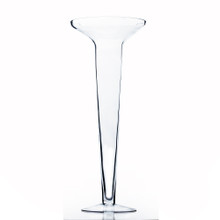 """10"""" x 25"""" Flared Trumpet Vase with Lip"""