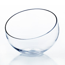 "7"" x 8"" x 3"" Slant Bowl Glass Vase - 6 Pieces"