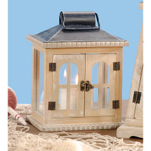 Set of 8 Natural Wooden Lanterns - 7.48 x 5.51 x 9.84 inches