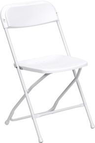 White Plastic Premium Folding Chair - 800 lb. Capacity