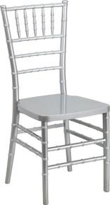 Silver Resin Stacking Chiavari Chair