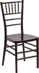 Mahogany Resin Stacking Chiavari Chair