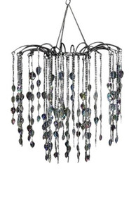 Large Black Waterfall Chandelier