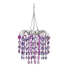 Purple Waterfall Chandelier
