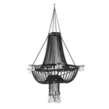 Black Empire Chandelier - 6 Candle Holder