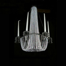 Large Crystal Beaded Hanging Candle Holder