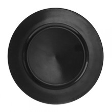 "Case of 24 Black Lacquer 13"" Round Charger Plates"