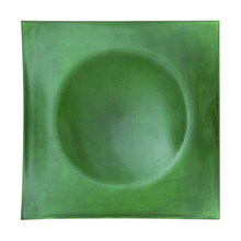 "Case of 24 Green 13"" Lacquer Square Charger Plates"