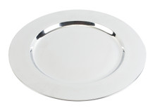 "Case of 36 Stainless Steel Silver 12"" Round Charger Plates"