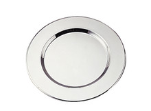 "Case of 12 Silver Plated 11-3/4"" Round Charger Plates"
