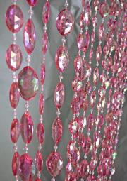 Large Pink Crystal Pendants - 3' x 6'