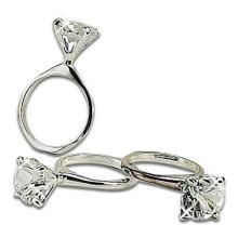 Case of 24 Diamond Ring Design Napkin Rings