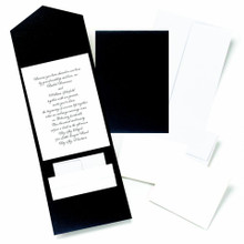 Black Shimmer Pocket Invitation Kit of 25