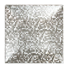 "Case of 24 Silver Mosaic 13"" Square Charger Plates @ $5.50 pc"