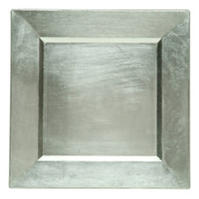 "Case of 24 Silver 13"" Square Charger Plates @ $5.95 pc"