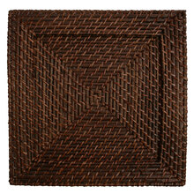 "Case of 8 Brick Brown Rattan 13"" Square Charger Plates @ $7.95 pc"