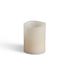 2.5 Inch Wax Wavy Edge LED Votives with Timer - 36 Candles
