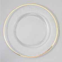"Case of 4 Gold Rim 13"" Round Charger Plates @ $20.00/pc"