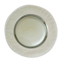 "Case of 4 Luster Platinum 13"" Round Charger Plates @ $20.00/pc"